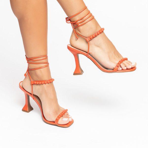 Sandália-Feminina-salto-taça-verão-2021-laranja-amarrações-aplicações-shoes-to-love-loja-online-calçados-femininos-tendencias
