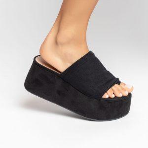 sandalia-feminina-anabela-plataforma-flatform-verão-2021-preta-cabdeal-tela-preta-shoes-to-love-loja-online-calçados-femininos-tendencias