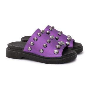 loja-de-calçados-femininos-sandalias-tamancos-flat-flatform-tachas-slide-roxo